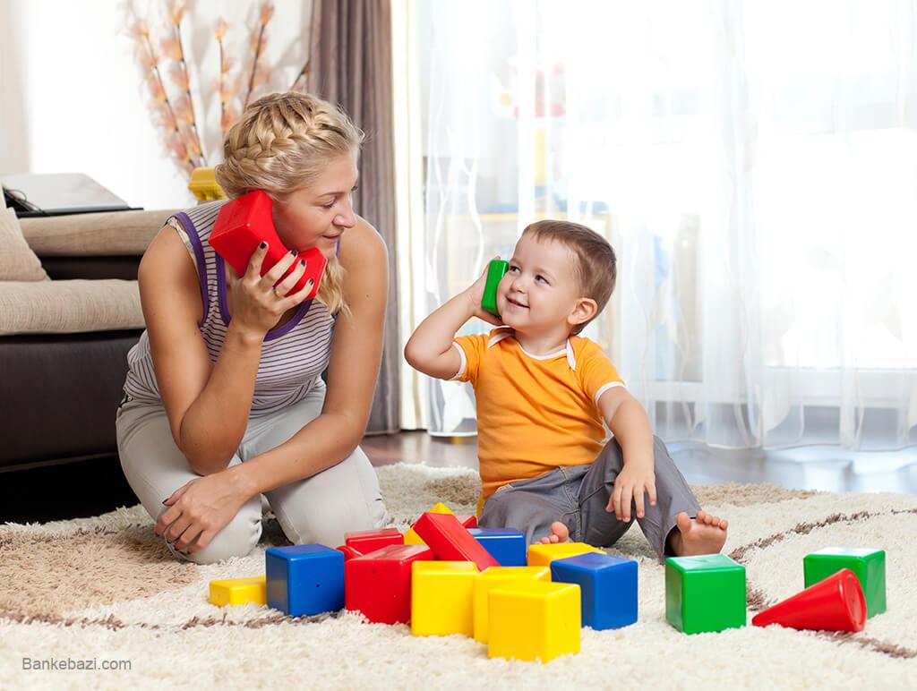 بازی های سمبولیک کودک سه ساله