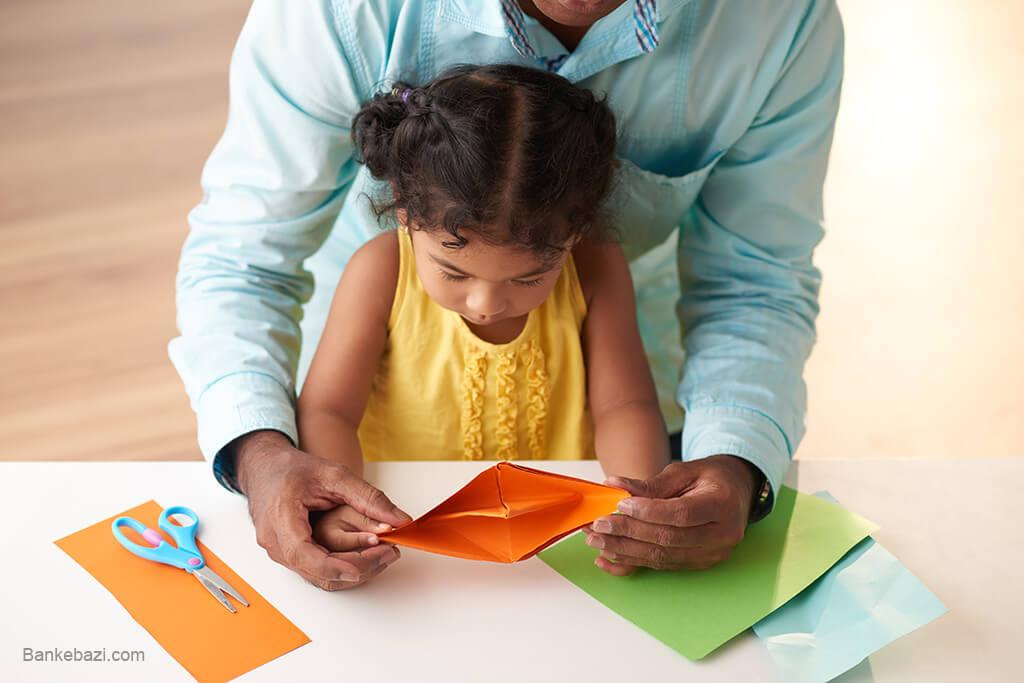 سرگرم کردن کودکان با اوریگامی