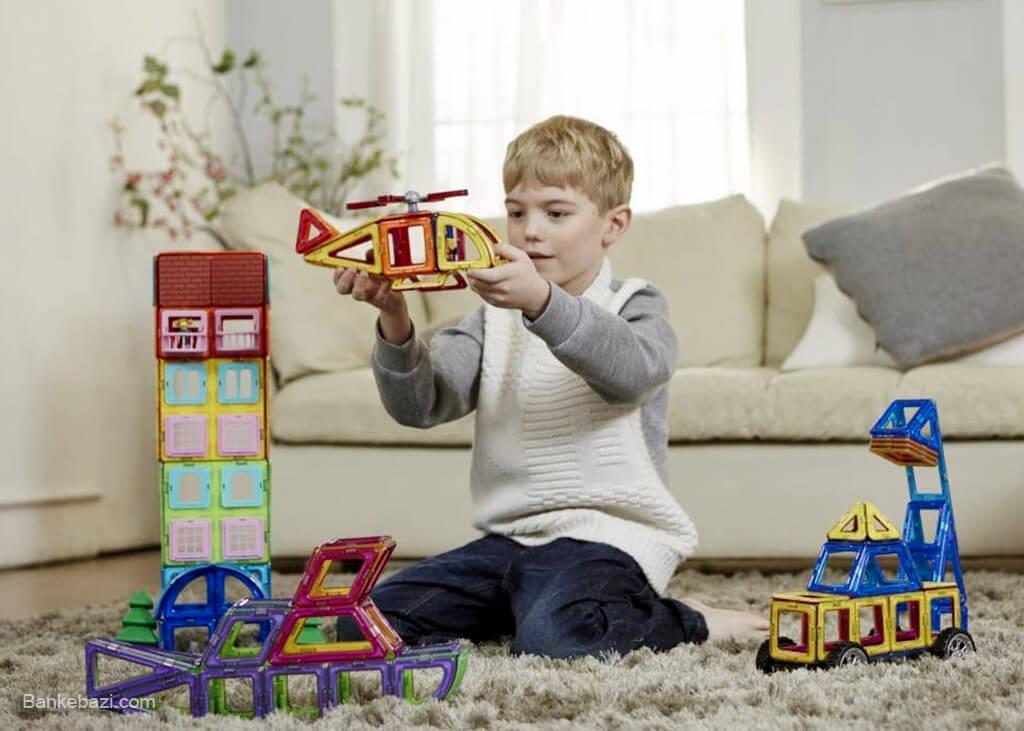 اسباب بازی خلاقانه آهنربایی