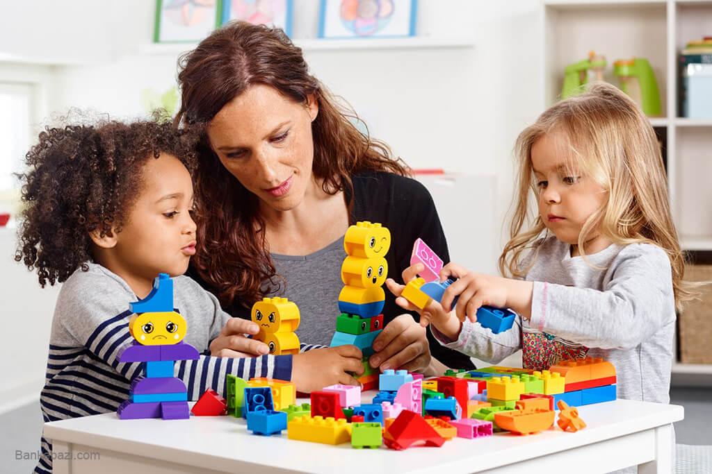 لگو بازی با کودک پیش دبستانی