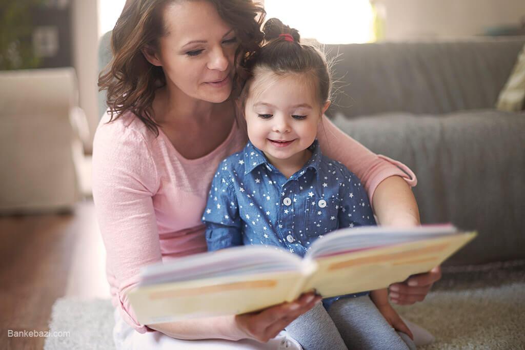 کتاب خواندن برای کودک چهار ساله