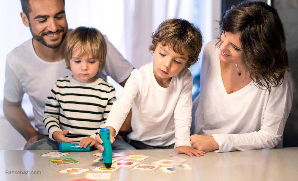 بازی با کودک چهار ساله در خانواده