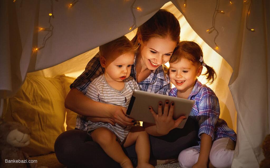 استفاده کودکان از موبایل و کامپیوتر