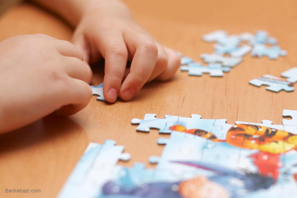 افزایش دقت و تمرکز کودک با پازل