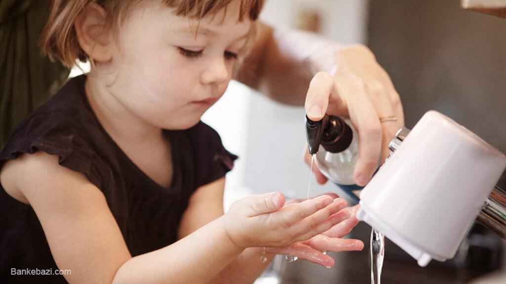 شستن دست ها برای جلوگیری از کرونا ویروس
