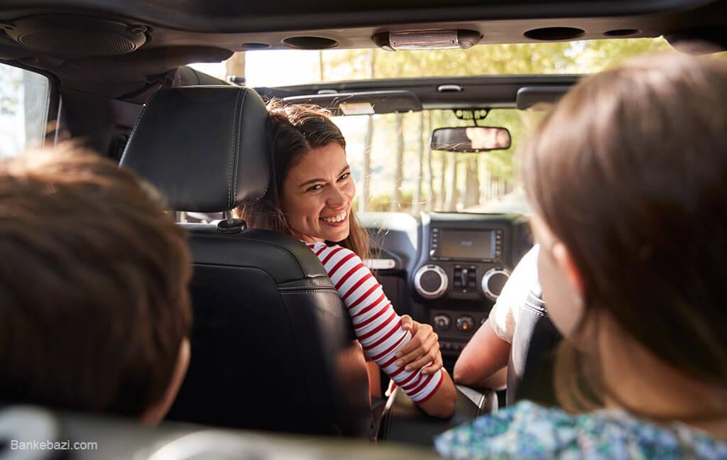 بازی با بچه ها در ترافیک